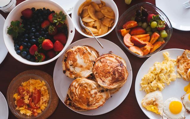 café da manhã intercâmbio